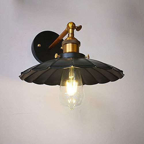 Mkj Wandlamp, Allee, lampen, spiegels, voorzijde, hal, lampen, vintage, industrieel, wandlampen, lampen, retro, loft, wandlampen van metaal, zwart, wandlamp voor huis bar 35cm