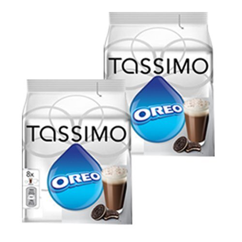 Tassimo Oreo Cacao, Hot Chocolate, Drinking Chocolate with Cookie Taste, 2-Pack, 32 T-Discs (16 Servings) by Tassimo