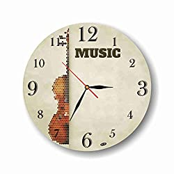 violin themed gifts ~ wall clock