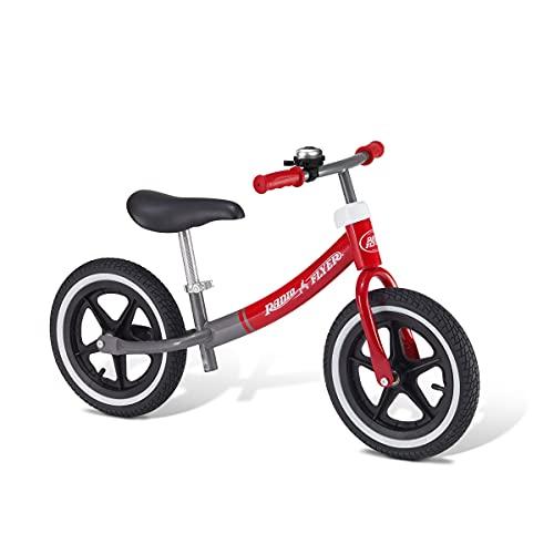 Radio Flyer エアライド バランスバイク 808Z 二輪自転車 キックバイク 乗用玩具 エアタイヤ 高さ調整可能 脚置き すべり止め ベル ペダルなし自転車