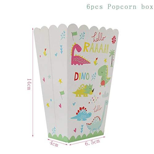 Party Supplies dinosaurus ballonnen papier rietjes wegwerp servies set kinderen jongen verjaardag partij decoratie jungle partij, popcorn doos