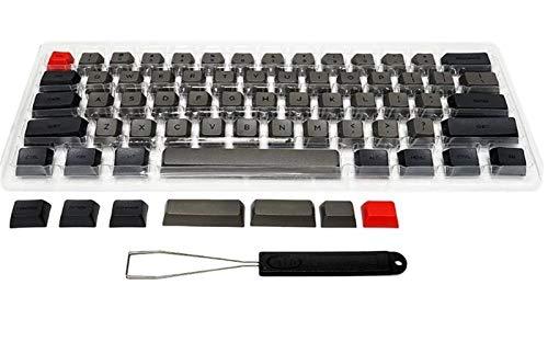 ゲーミングキーボード 61鍵の鍵の鍵盤のための厚さの厚さ 耐久性、耐摩耗性、防水性 (Color : Gray)