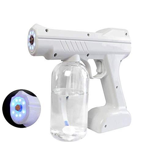 AMDIMOHB Pistola de pulverización antivirus Atomized Alcohol Anti-Virus 2020 Fogger con cable eléctrico eléctrico con batería, Fogger portátil de 800 ml, 1300W 110V-240V Máquina portátil Luz azul Nano