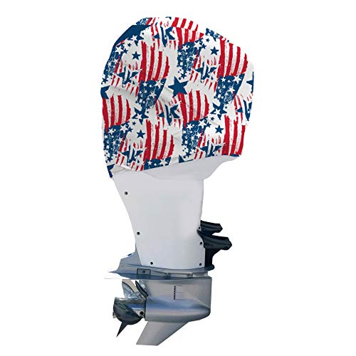 OUTERENVY American Patriot Outboard Motor Cover for Mercury Verado 225-300 HP V8 (2018-Present) | Made in USA to Stay on While You Run!