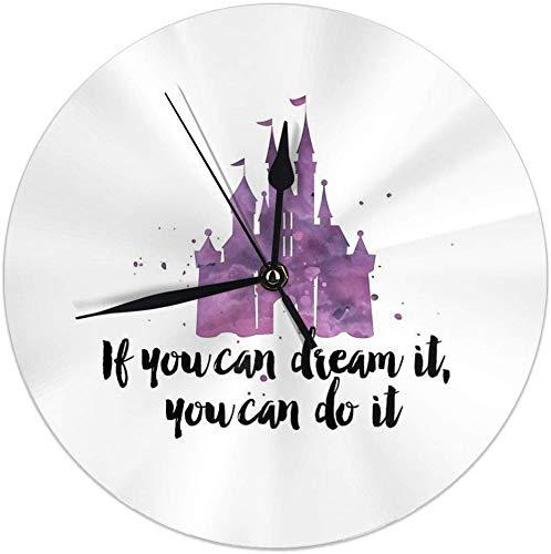 Gardenia Store - Reloj de pared con soñarlo redondo para decoración de hogar de 9,84 pulgadas
