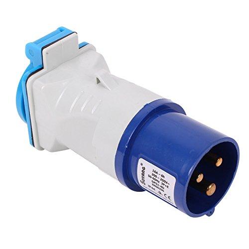 CEE Adapter CEE auf Schuko 200-250V, 16A, 3polig, 12 cm, Ip44 für Wohnwagen, Caravon oder Wohnmobil