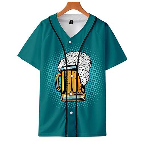 Herren Beer Festival 3D Druck Langarm Hoodies Sweatershirt Tops Sommer Bier dünne Kurzarm Baseball Bekleidung Ladies'3D einfach lässig Shorts Hosen Printing Einfacher, lässiger, kurzer Rock