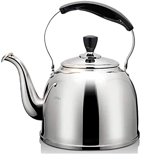 Stainless Steel Whistling Kettle Whistling Kettles for Gas hobs 1.5L Stainless Steel Stove Top Teapot Lightweight, Fast Boiling Housewarming Gifts
