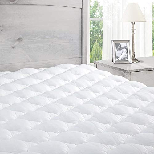ExceptionalSheets Pillowtop King Mattress Topper with Fitted Skirt - Cooling Mattress Topper with Extra Plush Pad Found in Marriott Hotels - Made in The USA, King Size