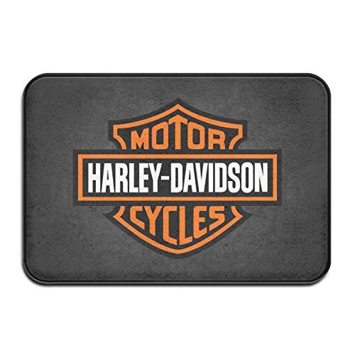 Longdai - Zerbino per porta Harley Davidson, per interni e esterni, 40,6 x 61 cm