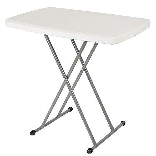 Flyelf - Mesa Plegable Ajustable, 3 Altura Ajustable 74/61/48 cm, Mesa de jardín Plegable mesas de Picnic