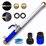 Hydro Jet High Pressure Power Washer Wand for Garden Hose and Car Pet Ground Washing, CONGDAREN Metal Pressure Washer Attachment with 2 Hydrojet Water Power Nozzle and Hose Quick Connector
