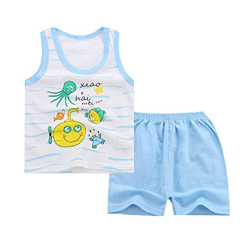 Babykleding Peuter Kinderen Zomer Baby Jongens Meisjes Kleding Set Kinderen Sport Kid Suits Trainingspakken Katoen Vest + Broek