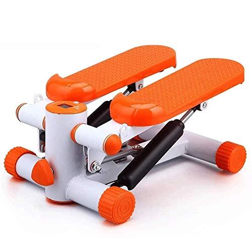 UIZSDIUZ Máquinas de Paso Máquina elíptica Entrenador Cruzado Stepper Sport Stepper Air Stepper Twist Ejercicio Máquina de Ejercicio Orange Mini Stepper