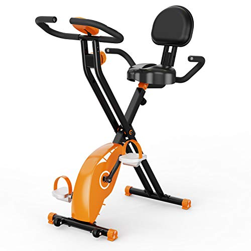 ciclette per casa,F-Bike , spin bike, Cyclette Pieghevole con Display LCD,Fitness Cyclette da Allenamento, Livelli di Resistenza Regolabili, con sensori di Pulsazioni, Advanced Exercise Bike