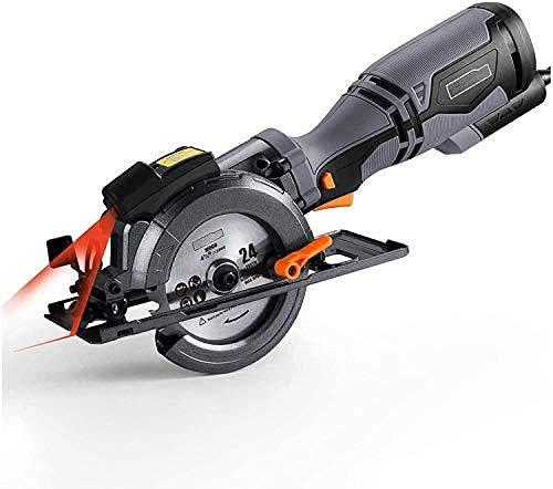 Sierra Circular,710W, 3500RPM,Cuenta con 6 Cuchillas (120 mm y 115 mm), Capacidad de Corte: 43 mm (90 °), 35 mm (45 °), Regalo para Hombres
