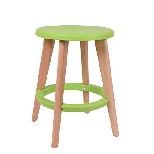 ZXS668 Bürostuhl Massivholz-McDonalds-Hochstuhl-moderner einfacher runder Schemel/Tabellen-Schemel/Schemel/Barhocker Stuhl (Color : D)