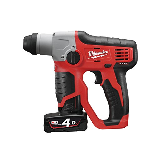 Milwaukee 0 M12 H-202C 12V Li-Ion SDS-Plus boorhamer set (2X 2,0 Ah accu) in koffer-0,9J, 12 V, zwart, rood