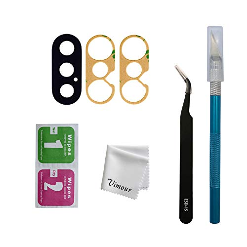 Vimour OEM Original Back Rear Camera Glass Lens Replacement with Adhesive and Repair Toolkit for iPhone Xs 5.8 Inch and iPhone Xs Max 6.5 Inch