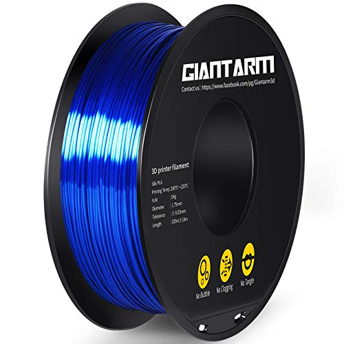 GIANTARM Filamento PLA 1,75 mm Silk Azul Real, Impresora 3D filamento PLA 1 kg Spool…