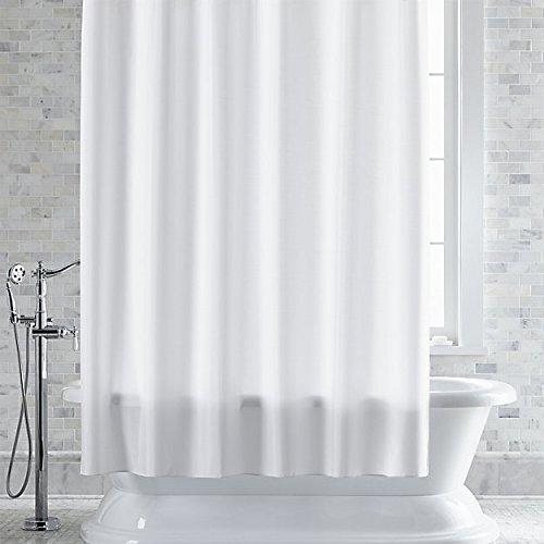 Klass Home Collection Duschvorhang, 100prozent Polyester, einfarbig, 180 x 210 cm, Wasser- & schimmelresistent, mit 12 Haken