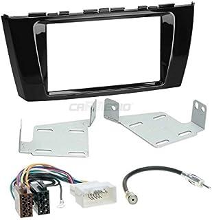 Carmedio Mitsubishi Space Star ab 13 2 DIN Autoradio Einbauset in original Plug&Play Qualität mit Antennenadapter Radioanschlusskabel Zubehör und Radioblende Einbaurahmen Hochglanz schwarz