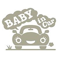imoninn BABY in car ステッカー 【パッケージ版】 No.25 クルマさん (グレー色)