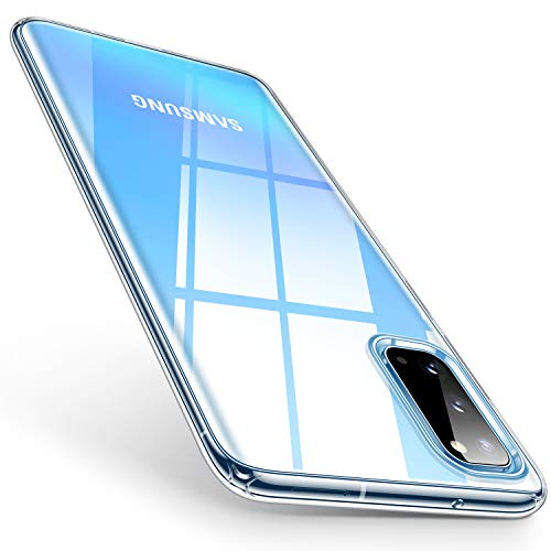 TORRAS Crystal Clear Kompatibel mit Samsung Galaxy S20 Hülle, [Nicht für S20 FE Edition] Transparent Dünn Silikon Schutz Handyhülle Galaxy S20 - Transparent