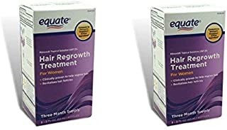 Equate - Hair Regrowth Treatment for Women with Minoxidil 2% (6 month Supply)