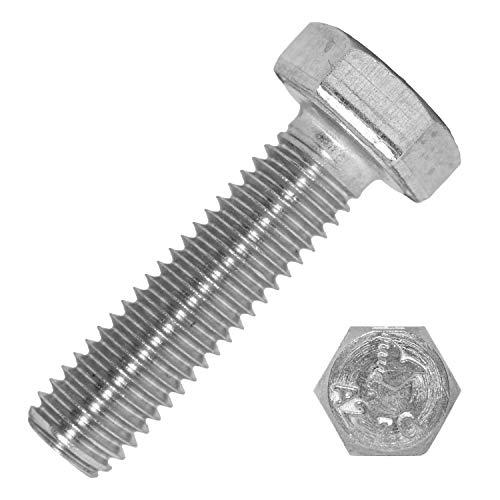 Tornillos hexagonales M8 x 90 mm de acero inoxidable A2 (20 unidades)   DIN 933 – Tornillos de máquina – tornillos de rosca – tornillos de Mesaros