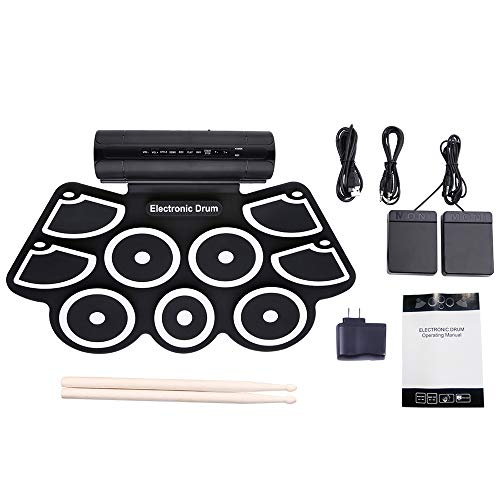 Why Choose EEEXY Portable Roll Up Electronic Drum Set 9 Silicon Pads Built-in Speakers with Drumstic...