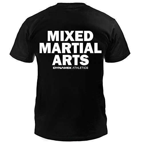 Dynamix Athletics T-Shirt MMA Classic Schwarz - Mixed Martial Arts Kampfsport Shirt für Herren (XXL)
