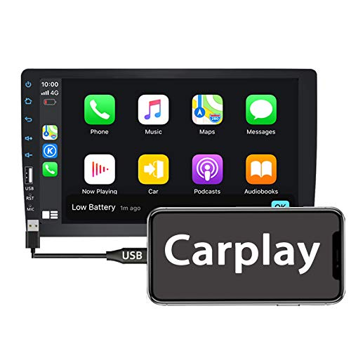 Binize 9 Inch Single Din Apple Carplay,Touch Screen Car Stereo Radio with FM,AM,Bluetooth, 9' MP5 Player Head Unit Support reversing Image Input, Steering Wheel Control
