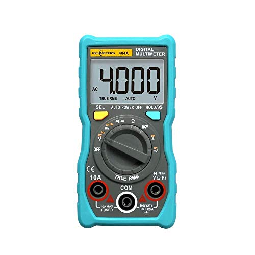 Allamp Multímetro digital con escala automática del amperímetro - 404A multímetro digital con escala automática del amperímetro de verdadero valor eficaz inteligente portátil Ncv 4000 cuentas LCD auto