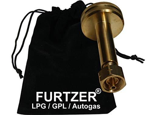 Furtzer® LPG GPL GNV Autogas Adaptateur de réservoir Dish Bouteilles de Gaz Propane Long avec Sac en Tissu