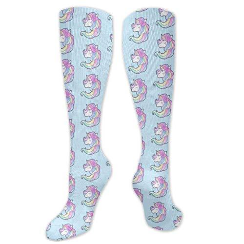 Not Applicable Lange Röhrensocken , Kreise Muster Polyester über dem Knie Bein Hohe Socken Gemütliche Promi Lange Strümpfe 50cm