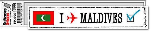 FP-020 フットプリント ステッカー/モルディブ(MALDIVES) スーツケースステッカー 機材ケースにも! (白)