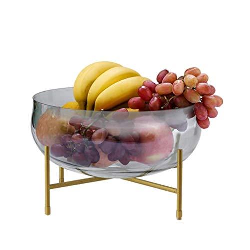 JYV El Cuenco de Fruta, Fruta del hogar Plate Glass multifunción Plato Vegetal del Cuenco de Fruta de plátano Sala de Estar Moderna decoración de la Oficina de Frutas extraíble