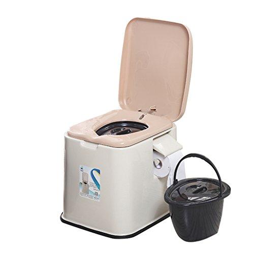 MyAou-commode Toilettenstuhl Leichte und tragbare Camping-WC Geeignet für Indoor und Outdoor (Farbe : A)