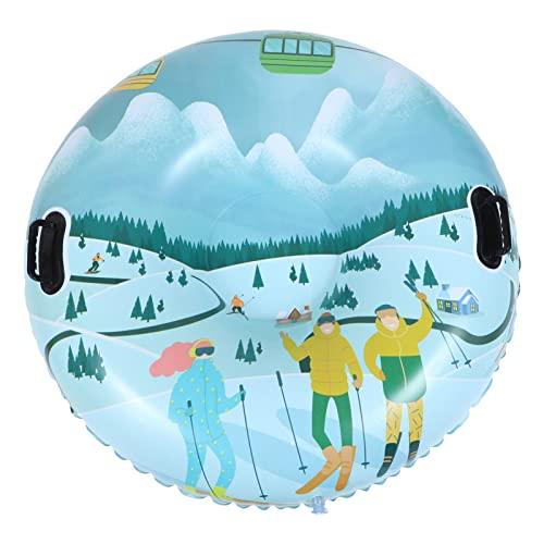 BESPORTBLE Tubo de Nieve con Mango de Doble Capa Espesado PVC Trineo de Nieve Portátil Snow Rider Tubo Inflable Trineo para Niños Adultos Trineo de Invierno Aire Libre