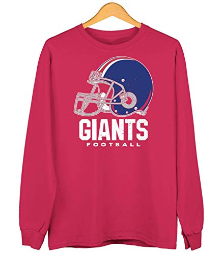 Giants American Football New York Any Given Sunday Super Bowl Sweatshirt Kinder Sweater Pullover, Farbe:Rot (Fire Red JH030k), Größe:7-8 Jahre (128)
