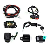 Electric Start Engine Wiring Harness CDI Coil Wiring Loom For 50/70/90/110/125CC...
