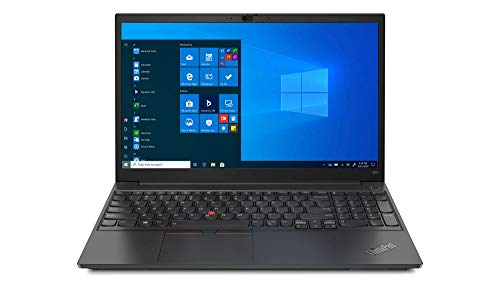 Lenovo thinkpad e15 g2 15. 6' notebook, intel core i5-1135g7, 8gb ram, 256gb ssd, intel iris xe graphics, windows 10 pro, glossy black (20td00b7us)