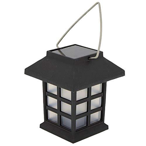 Annastore 4 x Solar-Lampe Laterne mit Henkel zum Hängen 7 cm - Solarlampen für Draußen - Partybeleuchtung - Gartenbeleuchtung Solar - Solar-Laterne