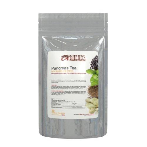 Herbal Pancreas Tea, Cleanse with Juniper, Fenugreek, and Gymnema (20 Bags)