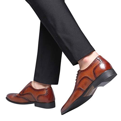 Skxinn Sonderverkauf Mode Luxus Mode Männer Business Leder Schuhe Casual Spitzschuh Männlichen Anzug Schuhe Die Freisetzung von Charme Charakteristisch Geschenk Gr 38-48 Größe(Braun,38 EU)