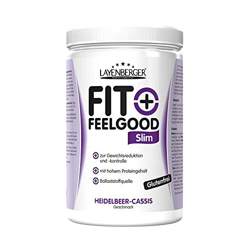 Layenberger Fit+Feelgood Slim Mahlzeitersatz Heidelbeer-Cassis, 1er Pack (1 x 430 g)
