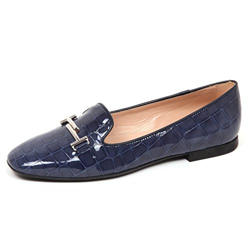Tod's E4194 Ballerina Donna Light Blu Scarpe doppia T Shoe Woman [35.5]