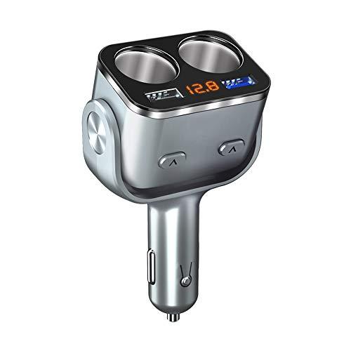 YANGYUAN Adaptador de cargador de coche dual USB mejorado seguro con 2 enchufes encendedor de cigarrillos adaptador DC Outlet Car Splitter