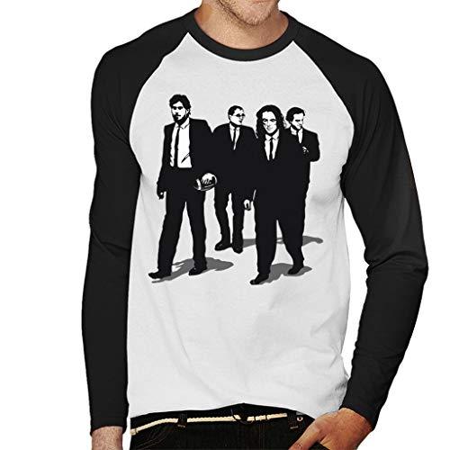 Cloud City 7 Reservior Groomsmen The Room Reservoir Dogs Mashup Camiseta de manga larga para hombre Blanco blanco/negro XXL